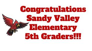 Congratulations to the SV 5th Graders!