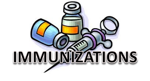 Required Immunizations for Students Entering Kindergarten, 7th and 12th grades