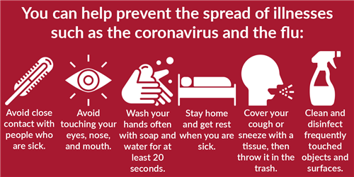 Help prevent the spread of illness