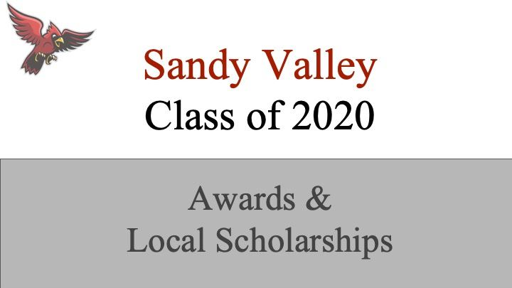 Sandy Valley Senior Awards and Local Scholarship Winners