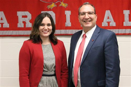 Morgan Kail, Treasurer and David Fischer, Superintendent